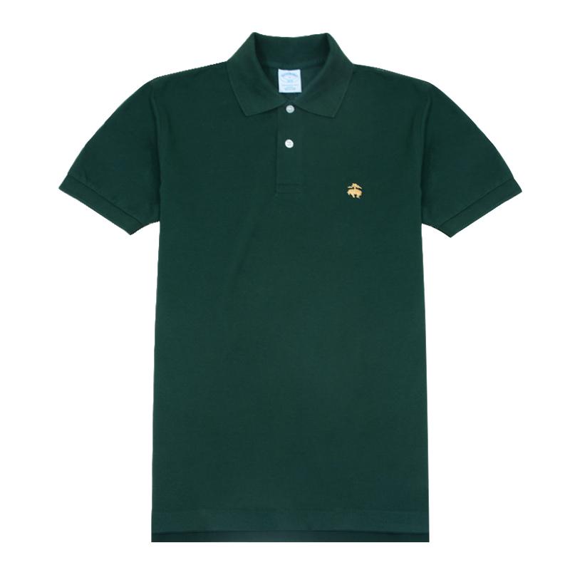 美国正品brooks brothers布克兄弟夏季珠地棉修身polo衫短袖T恤男