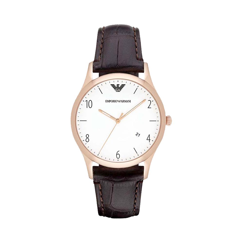 官方Armani阿玛尼男表商务皮带石英表时尚欧美手表名牌进口机械表