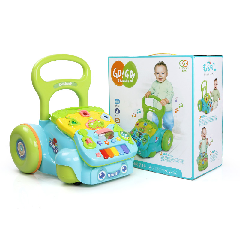 谷雨 宝宝学步车手推车婴儿音乐玩具6-7-18个月儿童防侧翻助步车