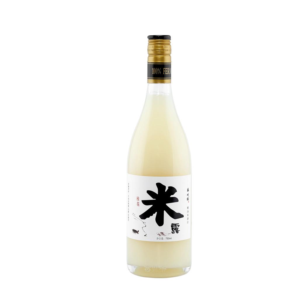 苏州桥酒桂花米露甜米酒通奶月子米酒0.5%低度酒女士甜酒750ml