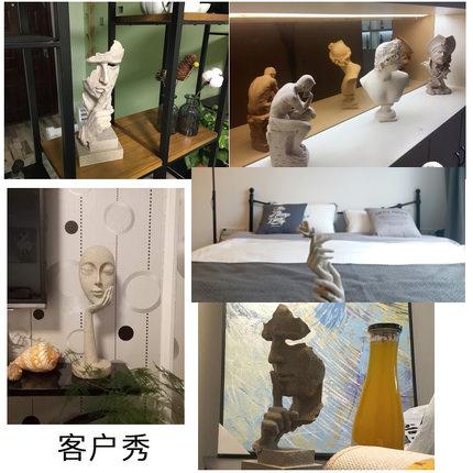 简约现代创意沉默是金工艺品摆件北欧雕塑办公室客厅艺术品装饰品