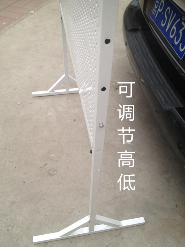 包邮洞洞板货架手机饰品展示架移动万能推拉地摊架千孔板带轮子
