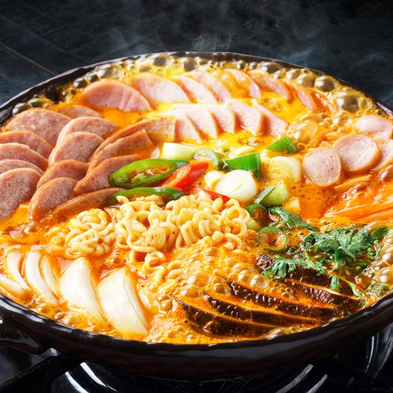 韩式部队火锅韩国部对火锅材料芝士年糕火锅组合套餐部队锅料食材