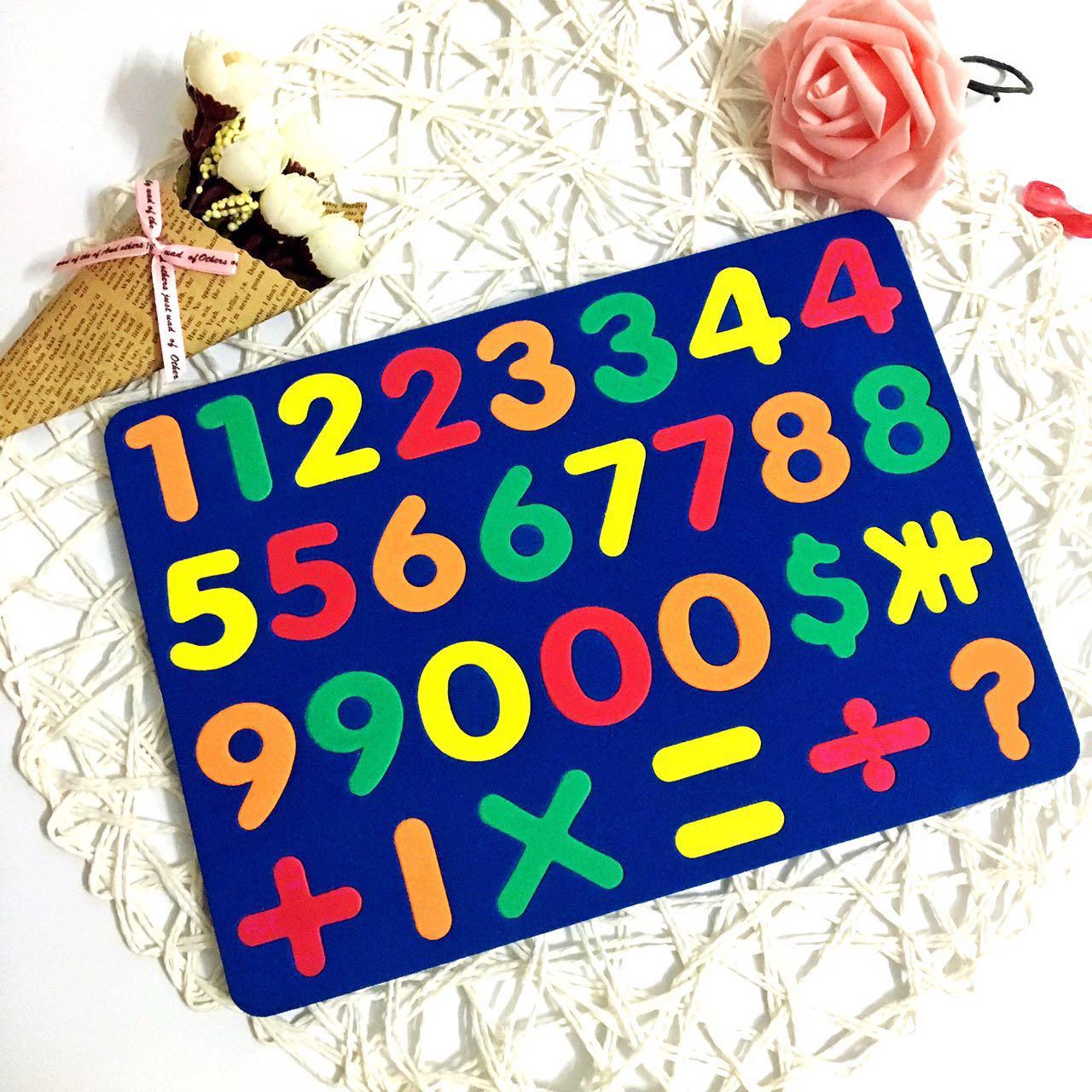 磁性字母贴 小写英文字母 磁性拼拼板 英文学习磁片 EVA字母贴