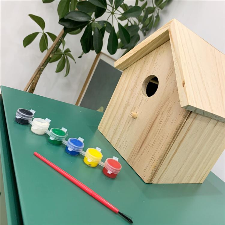 实木拼装模型建筑DIY小屋玩具学生宝宝手工简单木制立体木屋800G