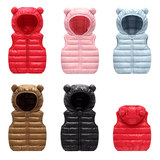 Baby vest down cotton autumn and winter vest vest thin jacket jacket baby cotton vest boys and girls vest