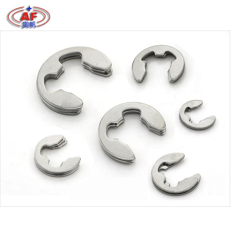 304不锈钢开口挡圈GB896E型卡簧 卡扣卡环M1.2/1.5/2345678910