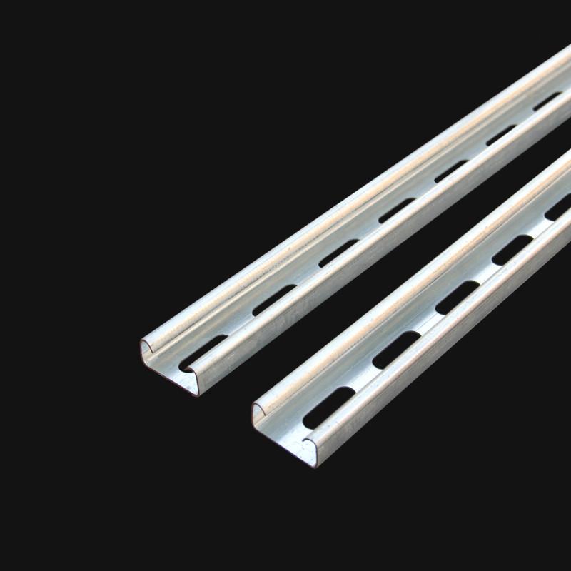 忠鑫 c型钢 41*62*2.3光伏支架 U型钢冲孔冷镀锌热镀锌c型钢 槽钢