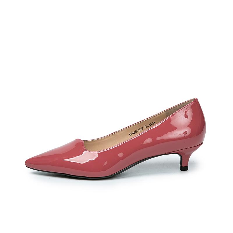 A9106012WX 春季新品商场同款时尚中跟漆皮休闲单鞋 2019 千百度女鞋