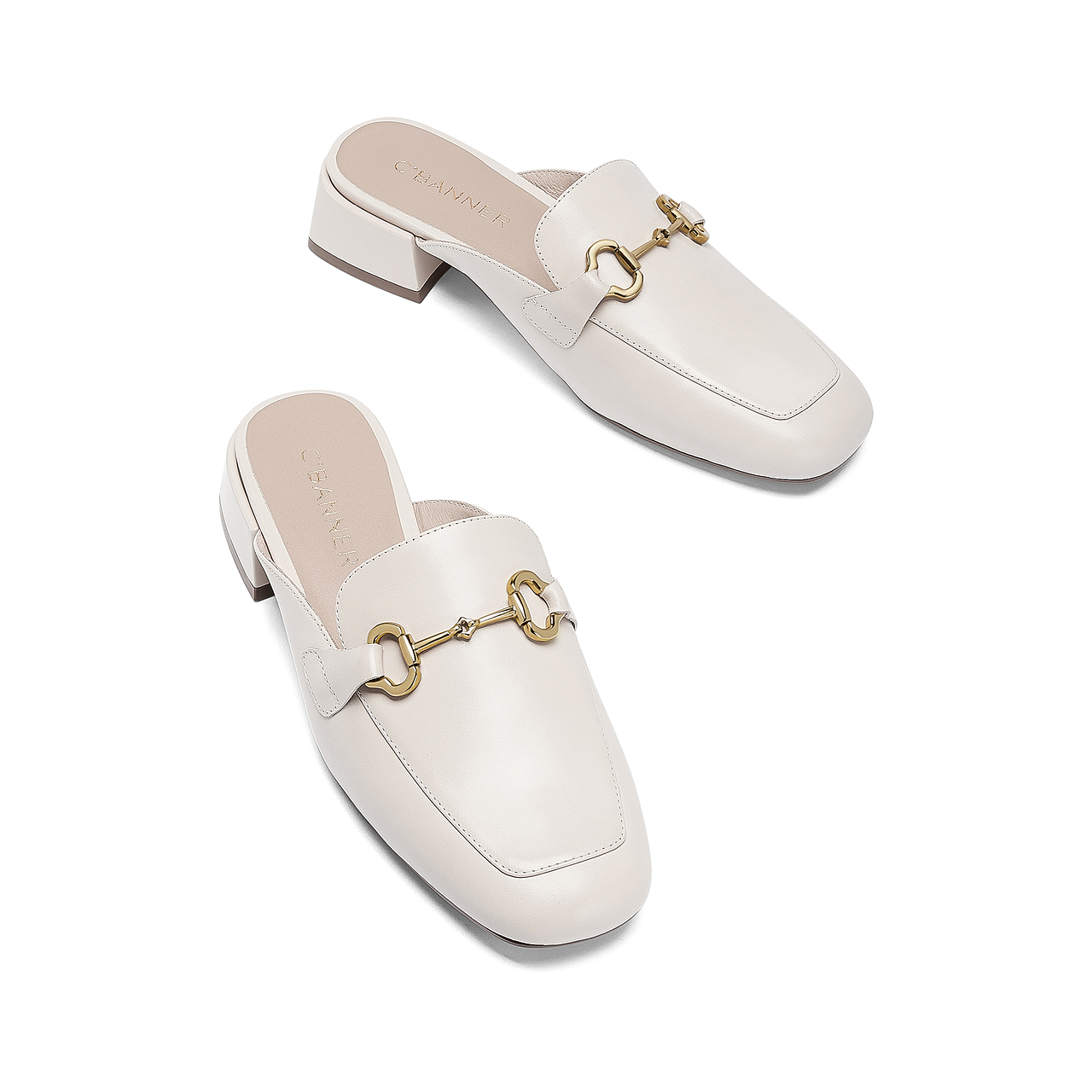 春夏新款外穿真皮穆勒鞋包头单鞋 2021 千百度女鞋 姐直播专享 K