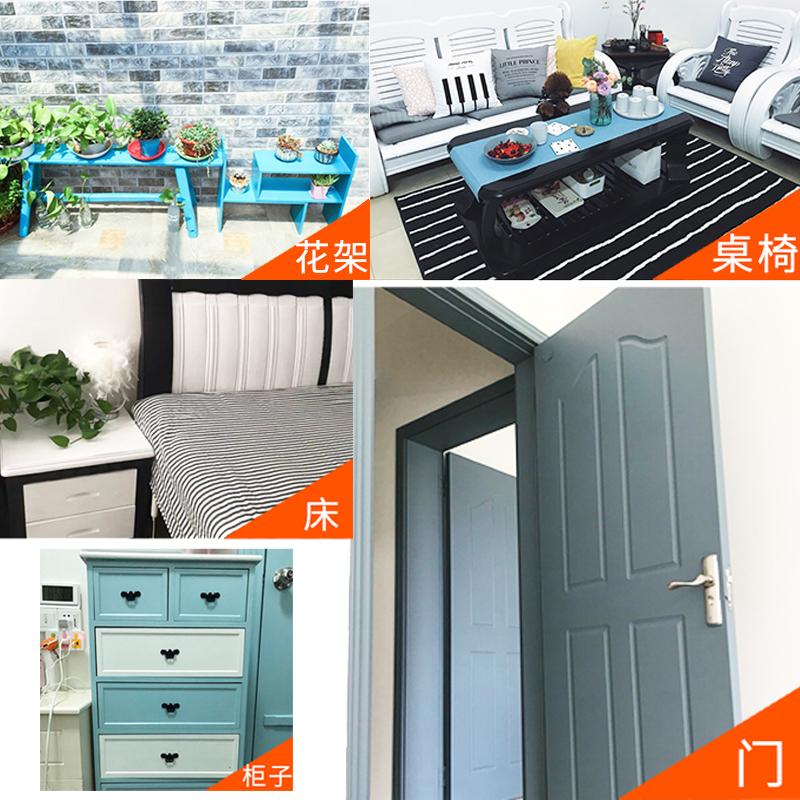 三青水性木器漆旧家具翻新改色实木质门喷漆家用木头自刷白色油漆