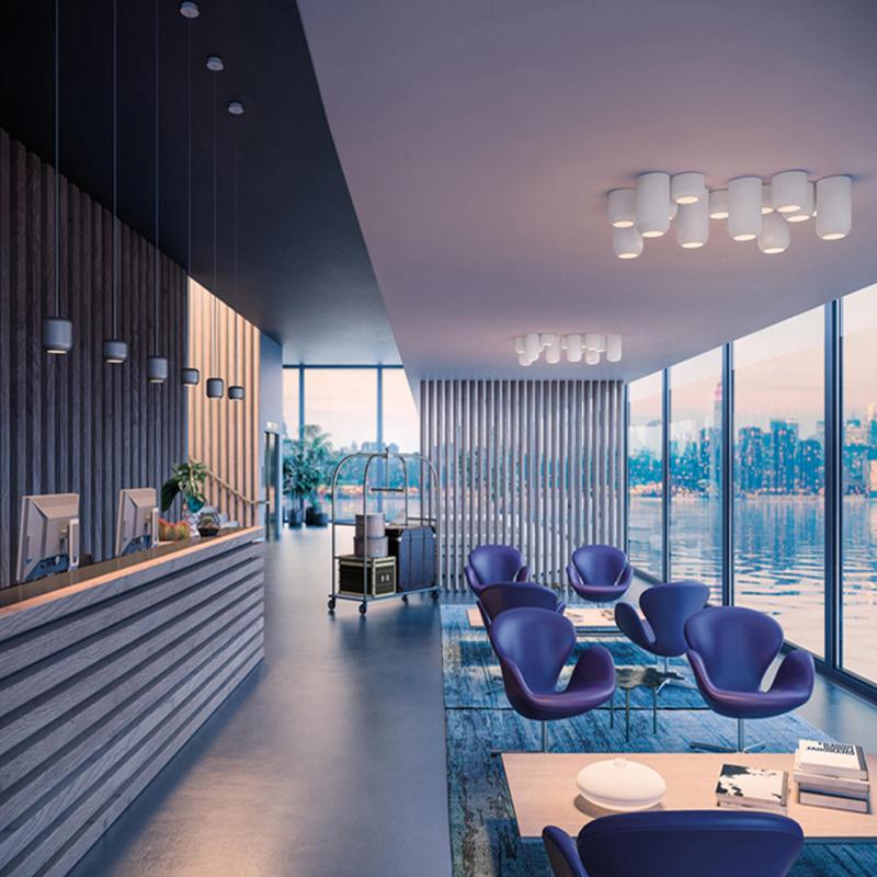 北欧柱形卧室小吊灯单头后现代创意吸顶灯简约艺术餐厅小圆柱吊灯