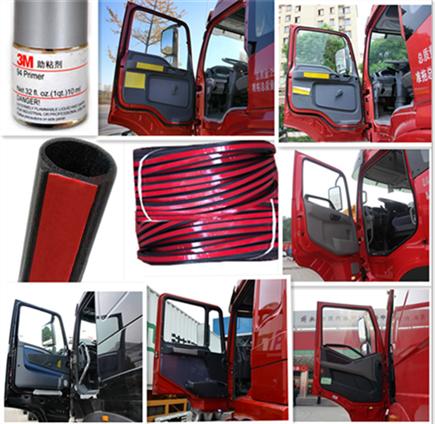 货车卡车汽车门加装防尘隔音密封条 M J5K J7 F M L J6P J6 解放