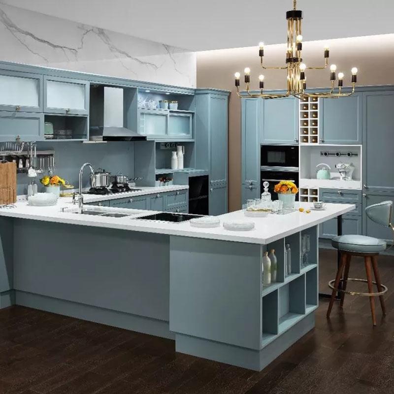 欧派整体橱柜定制厨房定做石英石台面北欧风贝加尔湖畔预付金