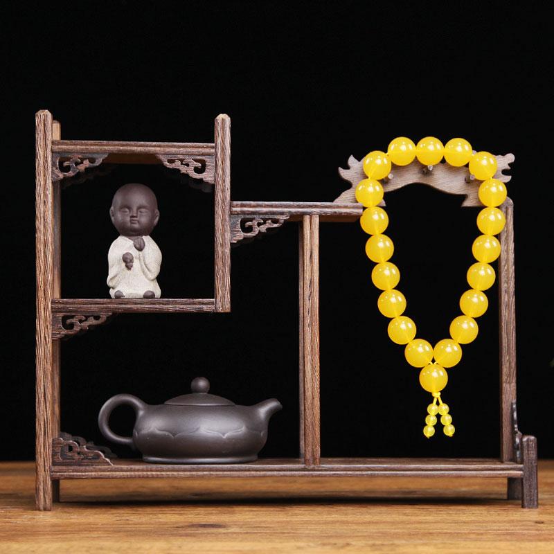 小博古架实木中式古典多宝阁古董架茶壶茶具架子置物架摆件展示架