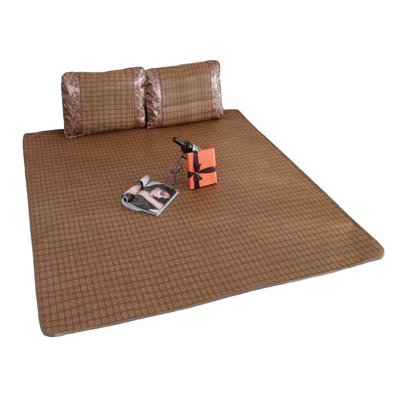 凉席可折叠藤席单人学生宿舍冰丝席子1.2米1.8m床双人1.5夏季草席