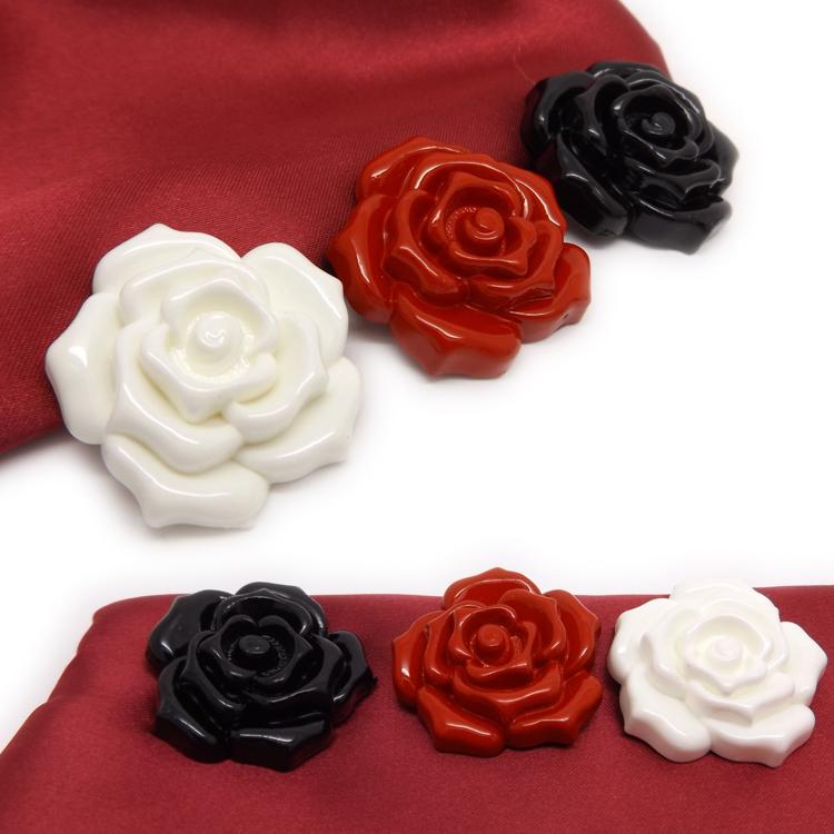 立体玫瑰花花朵纽扣 高档女装呢绒大衣扣 风衣衬衫扣子专卖
