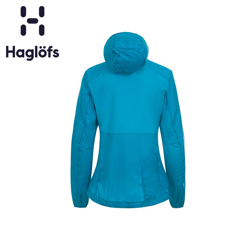 Haglofs火柴棍女款户外运动轻质带帽修身防风透气皮肤衣 601650