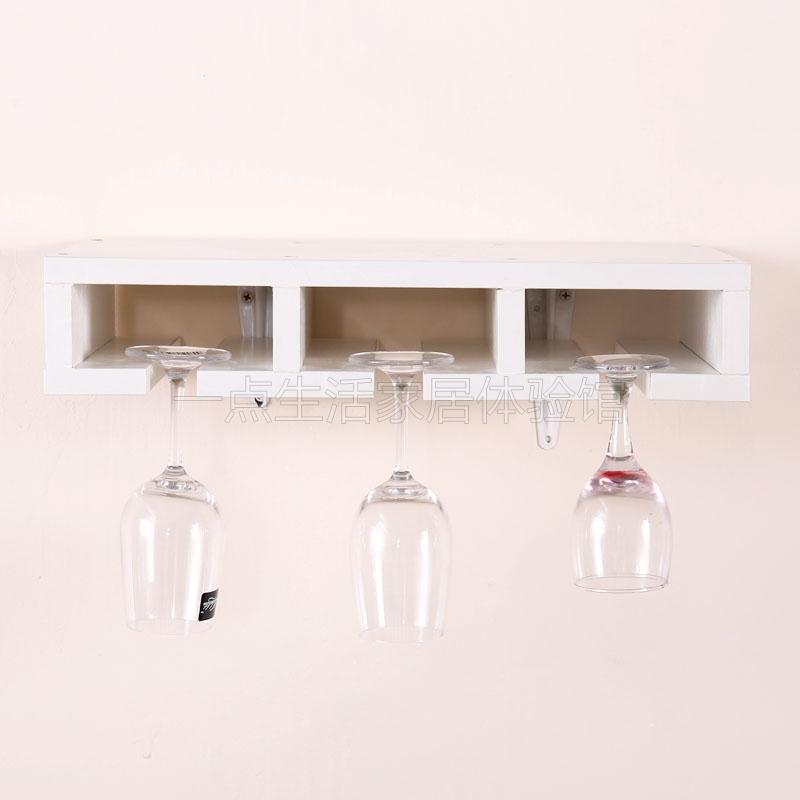 定制红酒架创意壁挂式酒架欧式酒柜格子木质组装酒格家用菱形酒格