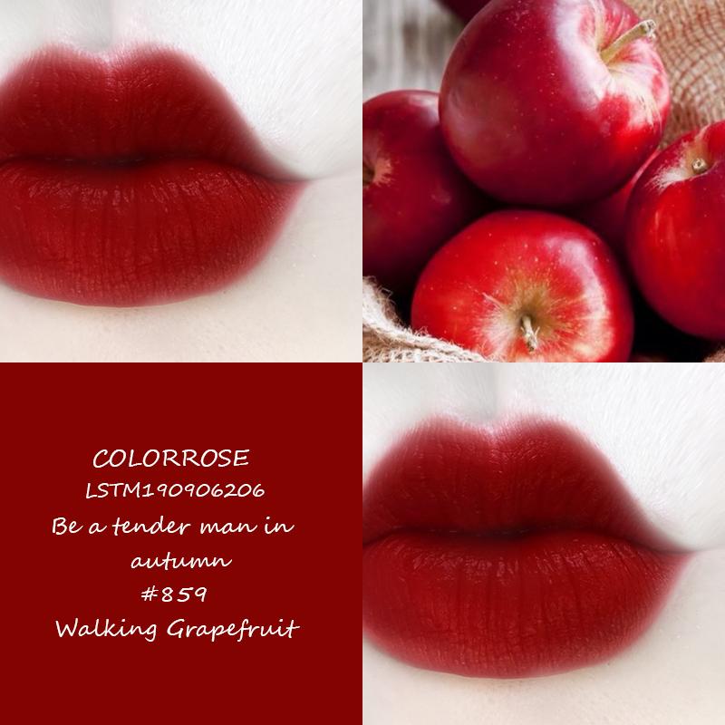 colorrose/口红小众品牌红棕色口红女学生款牛血色番茄蜜桃正品女
