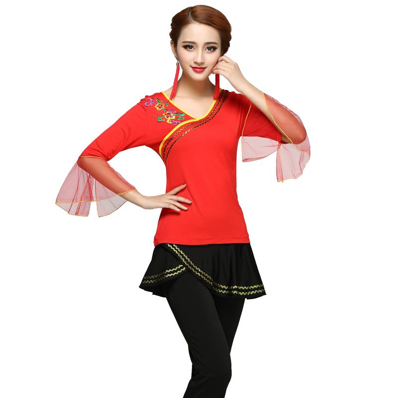 杨丽萍原创广场舞服装新款裙子套装女2018跳广场舞的衣服时髦套装