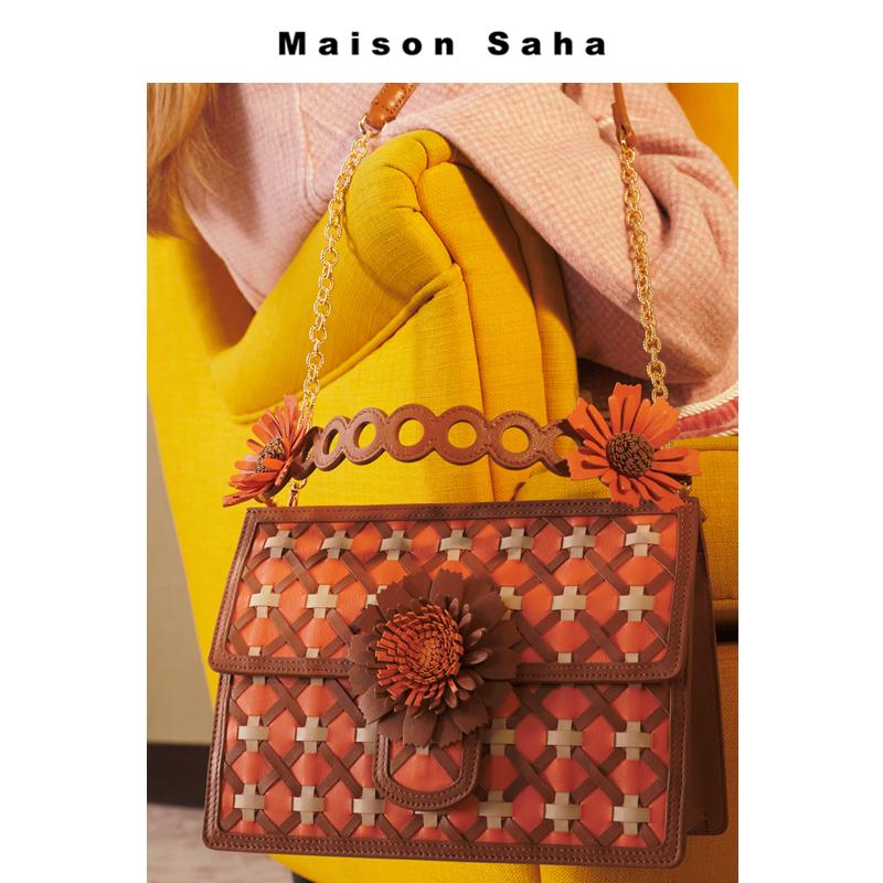 百搭小雏菊短包带包配件 ins 原创小众设计师品牌复古 Saha Maison