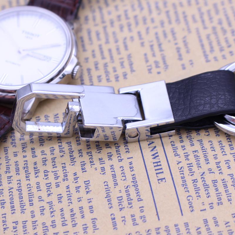 高档简单 皮质钥匙扣个性真皮男士汽车钥匙挂件 定制专属礼品包邮