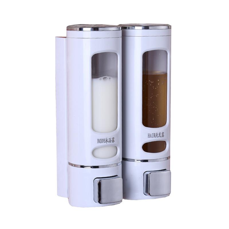 宾馆酒店壁挂式皂液器单双头给皂机沐浴露盒洗手液盒铡室洗手液瓶
