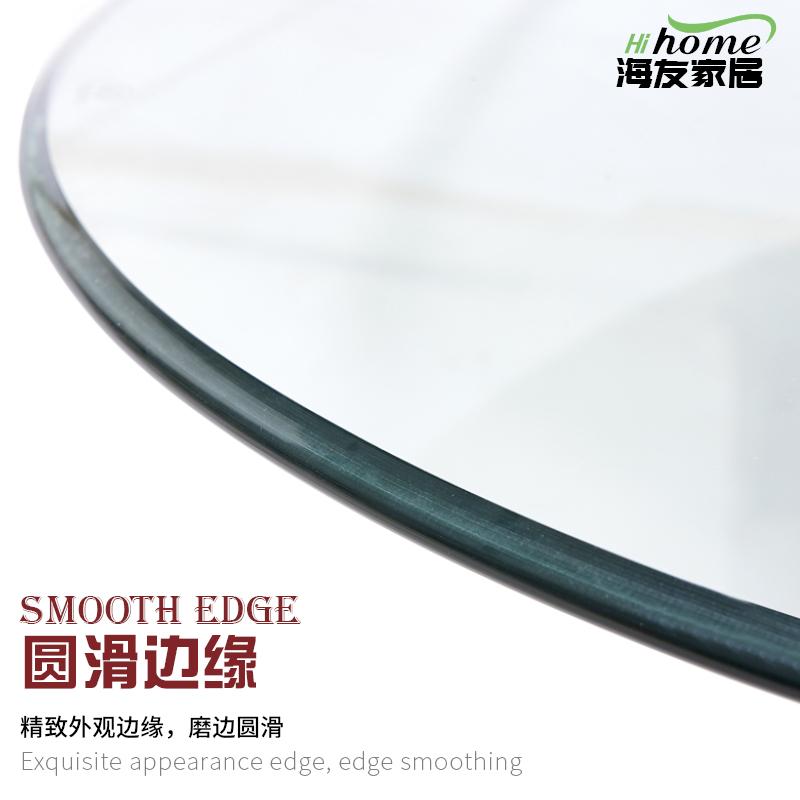 餐桌转盘钢化玻璃家用大圆桌旋转饭桌园台面玻璃转盘底座圆盘