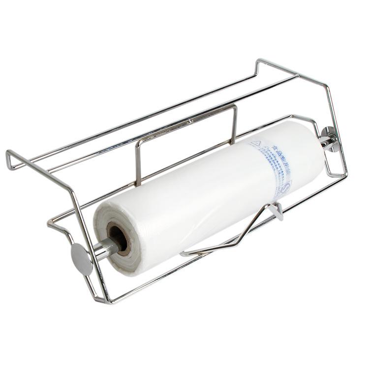 挂式连卷袋支架子超市专用不锈钢堆头架散称区袋架手撕袋货架包邮
