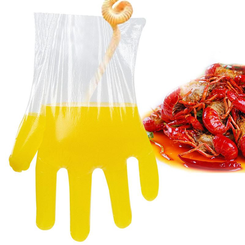一次性手套女食品厨房餐饮薄膜透明加厚塑料家用1000只装手膜