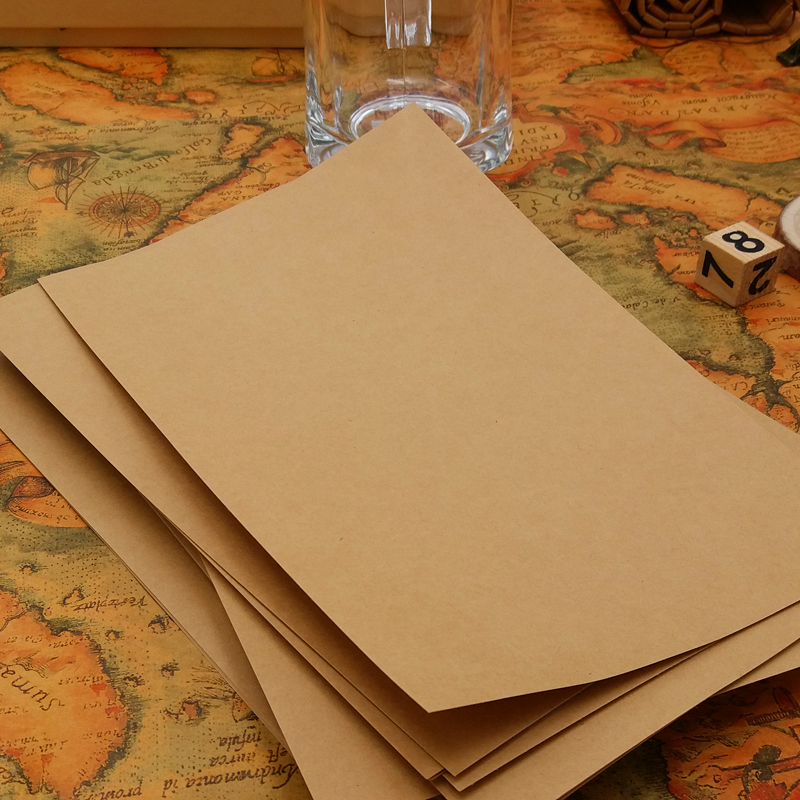 信封信纸套装牛皮纸古风复古简约中国风中式古典纯色信封批发包邮