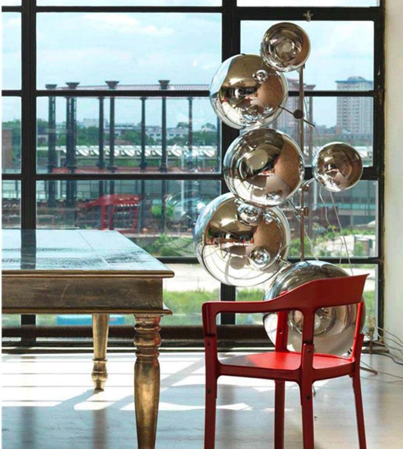 镜面球Mirror ball落地灯/设计师时尚简约北欧客厅会所卖场落地灯