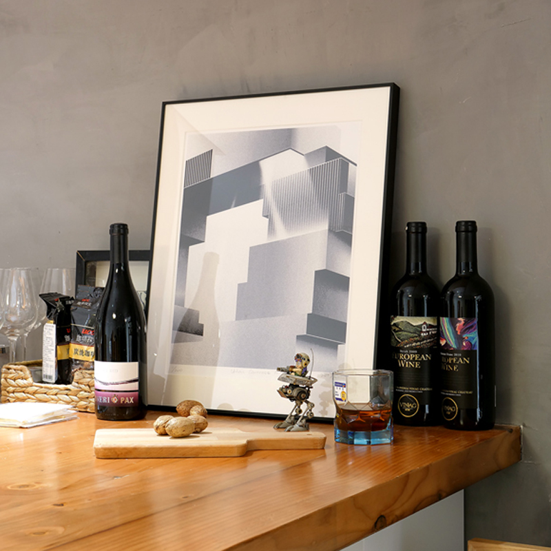 印物所出品 手印版画 「Urban Contrast」系列  丝网版画