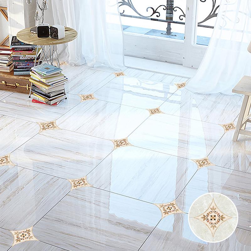 客厅卧室浴室地面装饰地砖贴纸防水耐磨自粘墙贴地板贴瓷砖对角贴