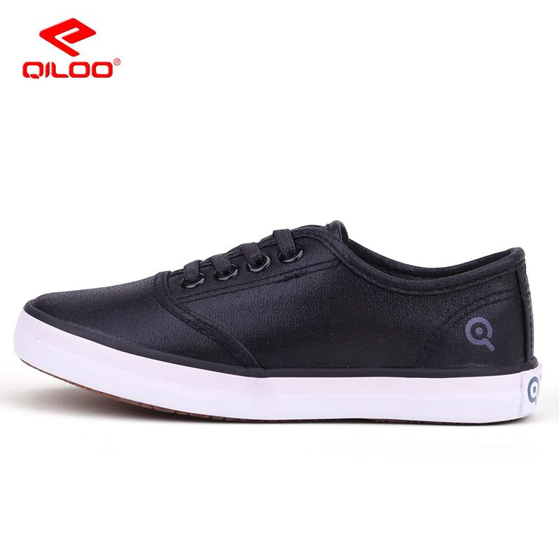 Qiloo女童鞋 低帮亮面女童韩版潮休闲帆布鞋童鞋学生鞋