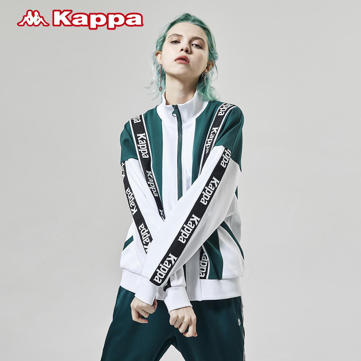 Kappa卡帕串标女款运动卫衣休闲开衫外套长袖拼接上衣 2020新款