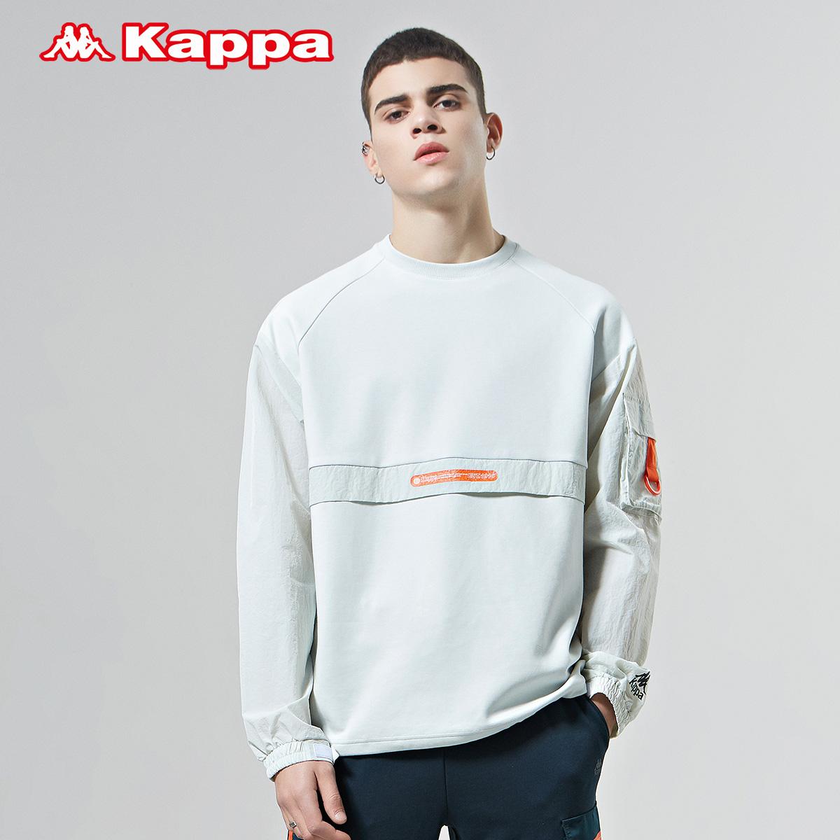 Kappa卡帕男款运动卫衣休闲工装圆领外套长袖套头上衣2020新款