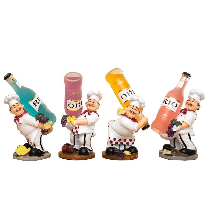 欧式红酒架创意葡萄酒架子厨师摆件时尚酒瓶架现代简约酒柜装饰品