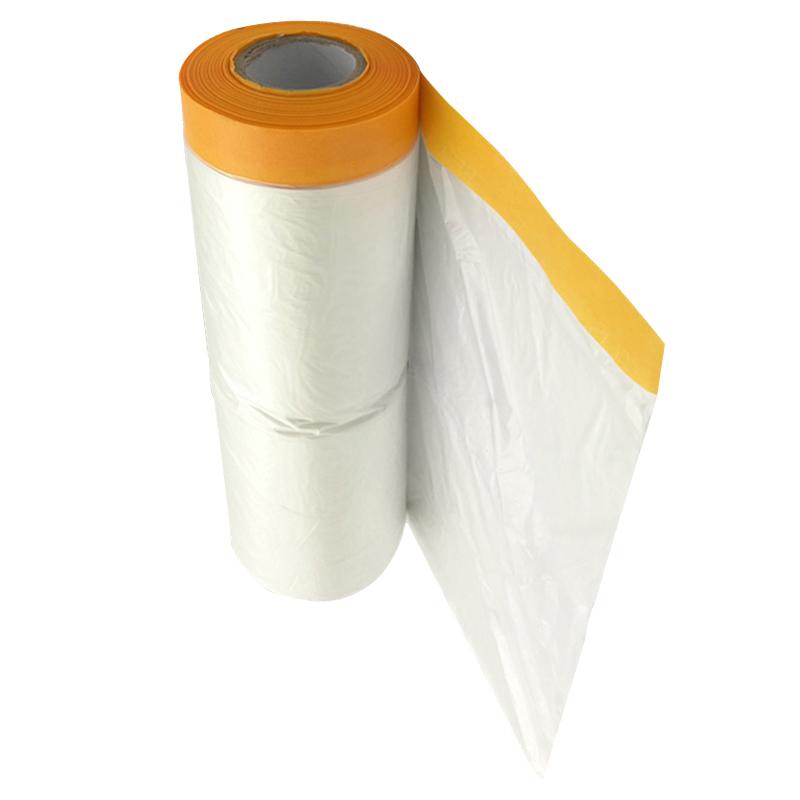 美紋和紙遮蔽膜汽車噴漆房屋裝修硅藻泥工程家具塑料防塵保護膜紙