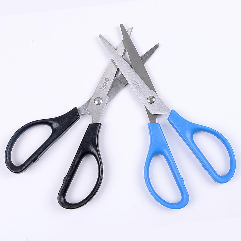 deli得力0603剪刀办公剪刀170mm通用圆角剪刀便携式手工剪刀学生剪刀家用厨房缝纫剪纸刀