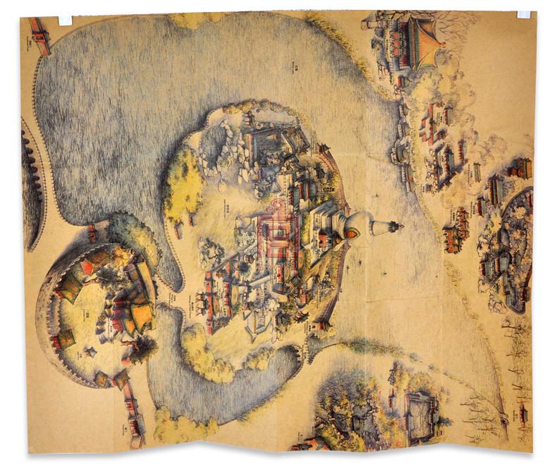 旅游地图 故宫博物院出版旗舰店 北海旅游 北海全景手绘地图