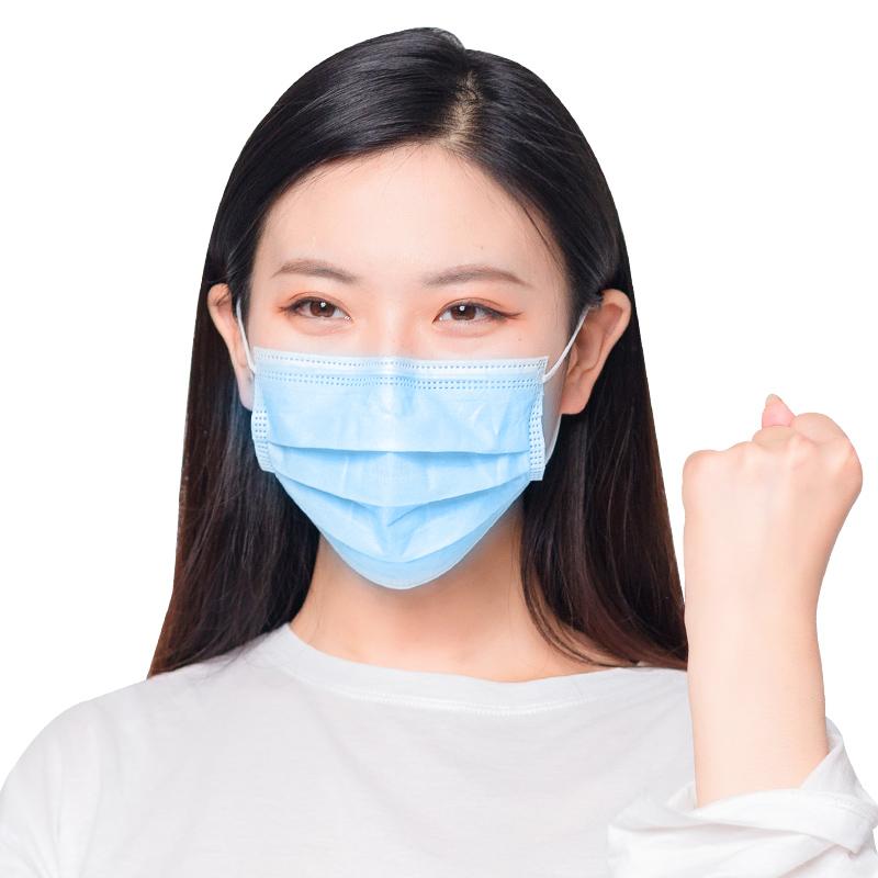 爱护佳一次性医用外科防护口罩医生薄款三层透气夏季熔喷布不勒耳