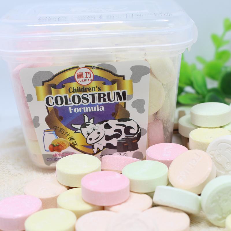 盒装 180g 香港富巧牛初乳奶片儿童营养牛奶片干吃奶片 两盒包邮