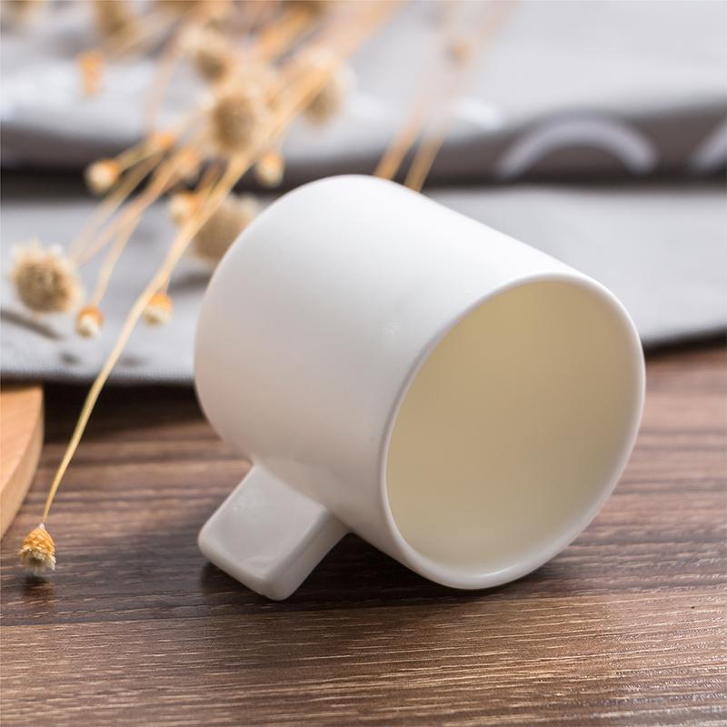 意式浓缩咖啡杯个性创意陶瓷杯子简约纯白色套装小号迷你欧式家用