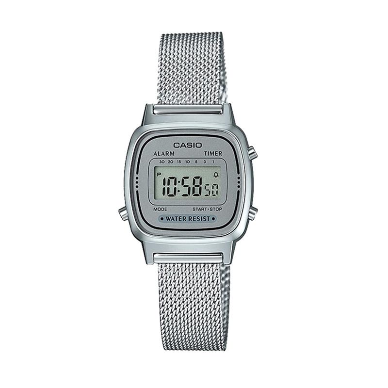 7d 1d la670wemb 女士手表 运动复古电子表 卡西欧复古小金表 casio