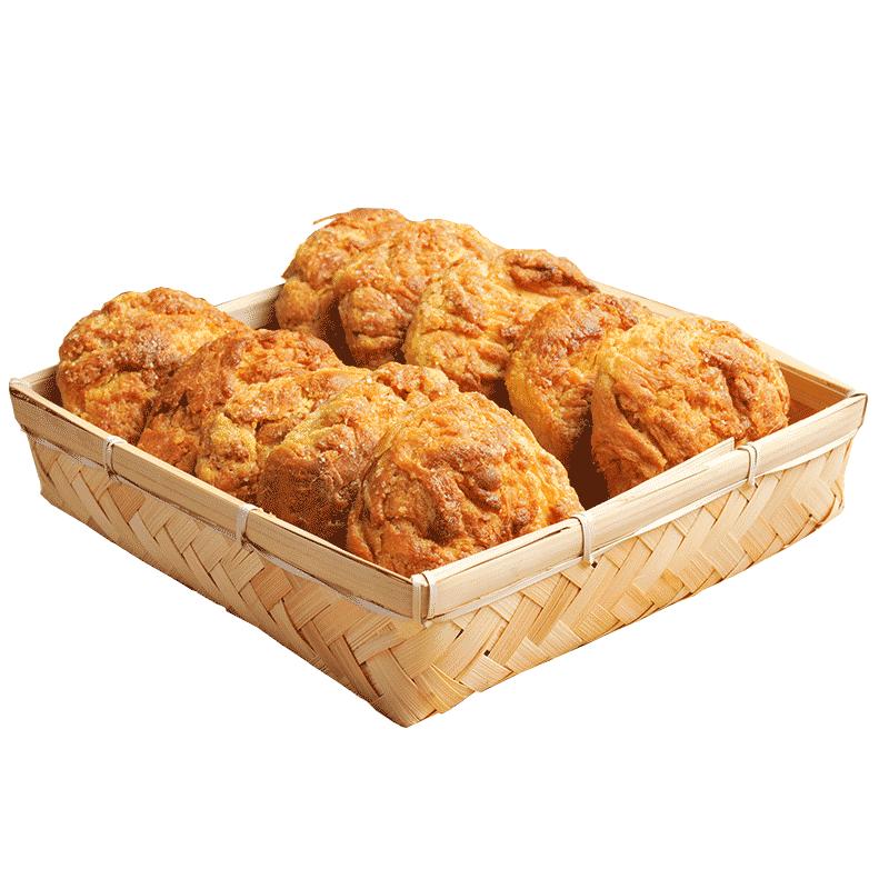 海鹏 软面饼10枚装丰镇月饼1200g玫瑰味早餐面包糕点零食地标名吃 No.4