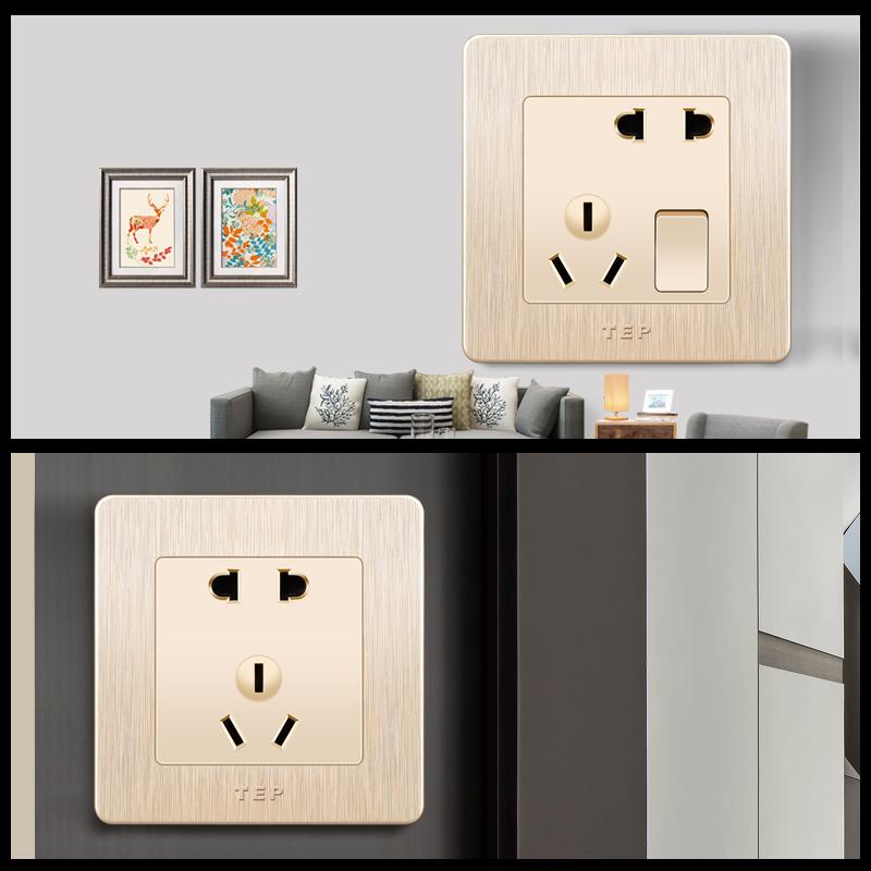 家用插座面板86型单口网线网络插座面板网口光纤信息宽带电脑插座