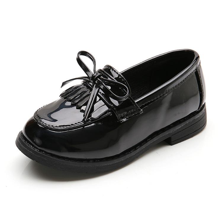 女童小皮鞋2018夏季新款中大儿童鞋春秋豆豆公主鞋英伦风黑色单鞋