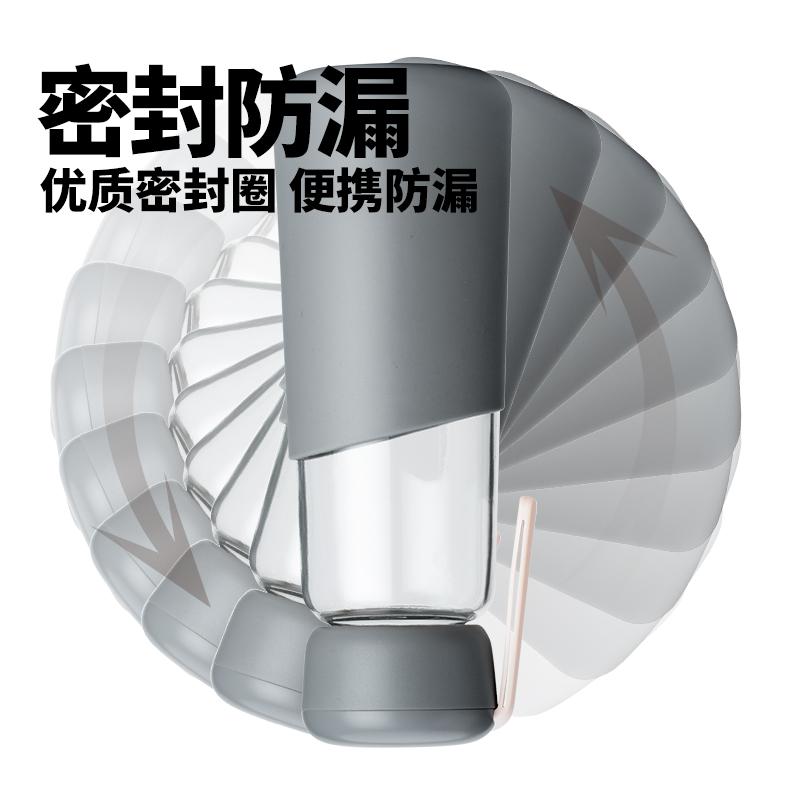 玻璃杯ins便携防烫水杯子女学生可爱简约韩版茶杯创意潮流随手杯